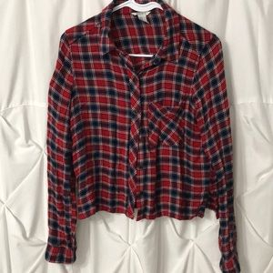 Forever 21 Cropped Flannel Women's Shirt